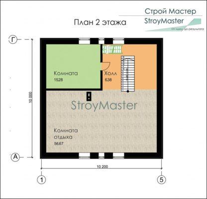 Проект дома № 235 — 166 м2 (10,2 х 10)
