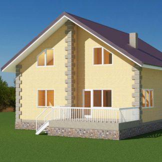 Проект дома № 531 — 199 м2 (10,8 х 9,9)