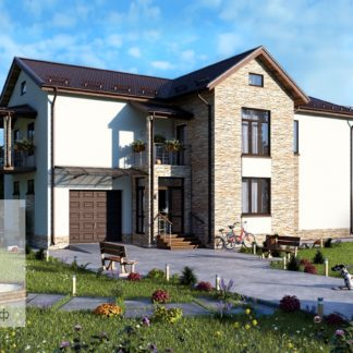 Проект загородного дома №4 - 288,2 м2 (17,8х11,5)