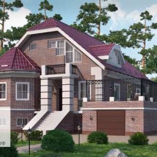 Проект загородного дома №5 - 229,0 м2 (16,0х11,7)