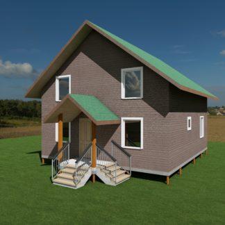 Проект дома №747 — 123 м2 (8 х 9)