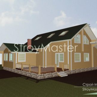 Проект дома № 30 — 241 м2 (15,8 х 13,7)