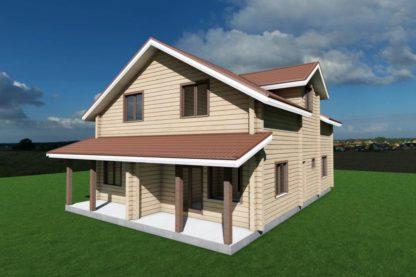 Проект дома № 1299 — 246 м2 (14,88 х 10)