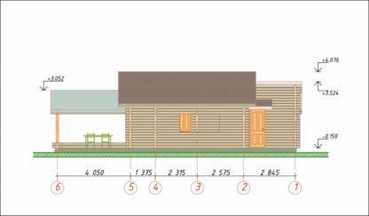 Проект бани № 272 — 53 м2 (13,16 х 6,09)