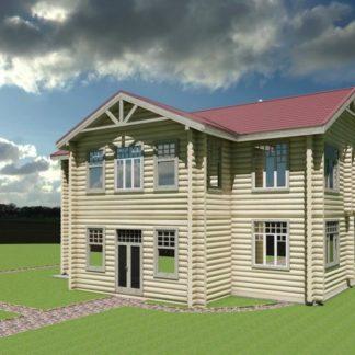 Проект дома № 1243 — 262 м2 (13,11 х 12,51)