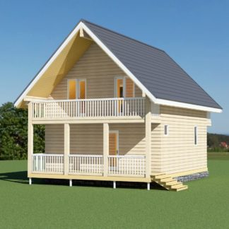 Проект дома № 731 — 124 м2 (9,5 х 6,8)