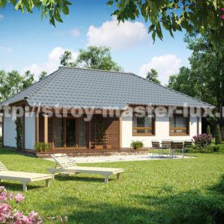 Проект дома Z-69 — 102 м2 (13,4 х 9,18)
