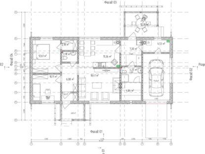 Проект дома №34 — 132 м2 (16,4 х 12,6)