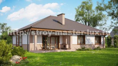 Проект дома Z-10 — 134 м2 (14,88 х 11,78)
