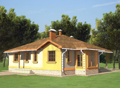 Проект дома №АД-056 — 181 м2 (15,75 х 13)