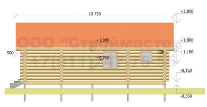 Проект бани №Б5 — 60 м2 (9,5 х 7)