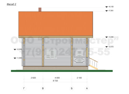 Проект бани №Б10 — 143 м2 (9,68 х 8,72)