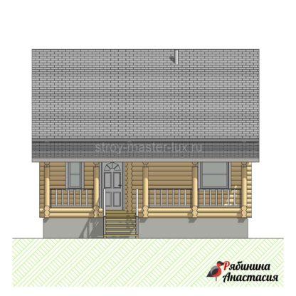 Проект дома №3 — 95 м2 (8,6 х 8,6)