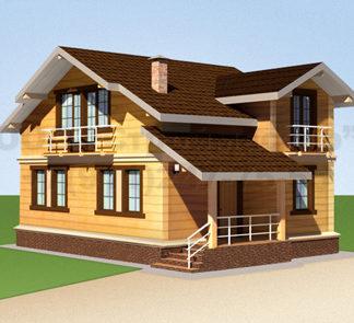 Проект дома № АД-013 — 106 м2 (9,66 х 6,75)
