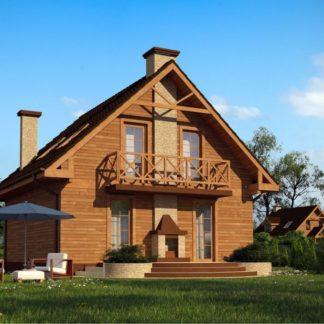 Проект дома № 103 — 110 м2 (7,88 х 8,40)