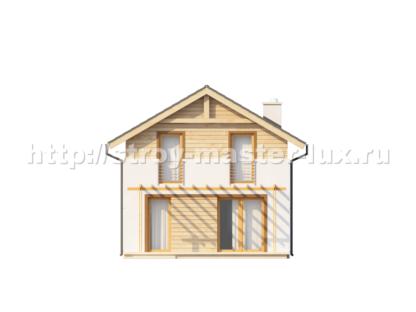 Проект дома №Z38 — 114 м2 (7,08 х 10,38)