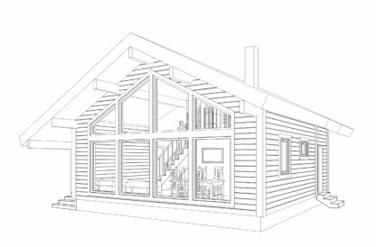 Проект дома № 90 — 90 м2 (8 х 10)