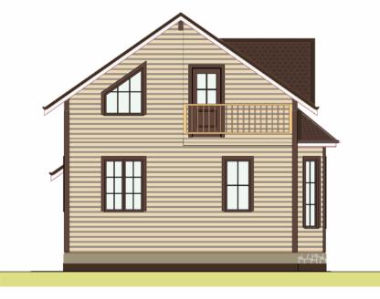 Проект дома № 2350 — 99 м2 (7 х 8)