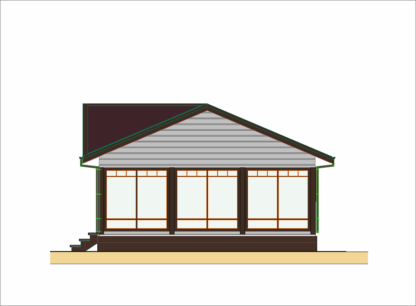 Проект маленького дома № 340 — 62 м2 (9 х 7)