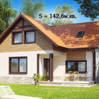 Проект дома ГБН-08 – 142,6 м2 (9,8х11,4)