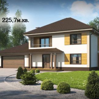 Проект дома ГБН-07 - 225,7 м2 (18,7х10,7)