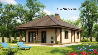 Проект дома ГБН-15 – 94,6 м2 (13х9)