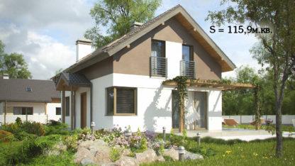 Проект дома ГБН-17 – 115,9 м2 (10,4х7,4)