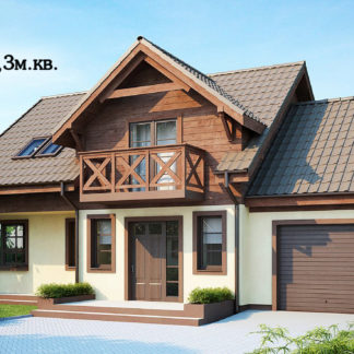Проект дома ГБН-19 – 110 м2 (13х8,3)