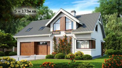 Проект дома ГБН- 25 – 173 м2 (8,6х14)