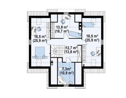 Проект дома ГБН- 26 – 185,1м2 (10,6х12,5)