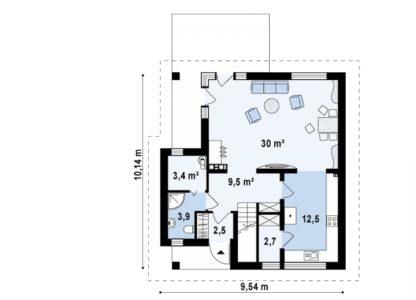 Проект дома ГБН- 34 – 134,8 м2 (10,1х9,5)