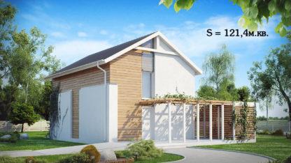 Проект дома ГБН- 35 – 121,4 м2 (10,5х7,6)