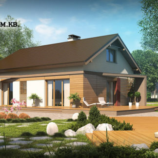 Проект дома ГБН- 36 – 80,5 м2 (8,6х11,6)