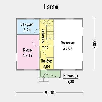 Проект компактного дома(9 х 7)