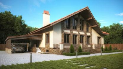 Проект современного дома №П-11 — 526,6 М2 (17,24 х 22,03)