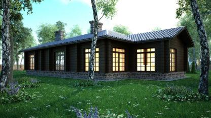 Проект одноэтажного дома №П-12 — 164,25 М2 (19,45 х 13,05)