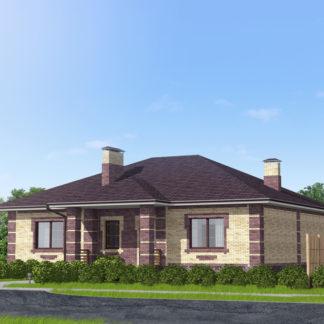 Проект одноэтажного дома №П-13 — 128,51 М2 (14,67 х 14,15)