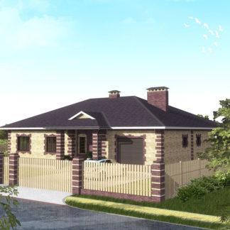 Проект одноэтажного дома №П-14 — 188,8 М2 (18,45 х 16,93)
