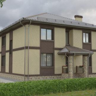 Проект двухэтажного дома №П-17 — 196,2 М2 (11,44 х 15,08)