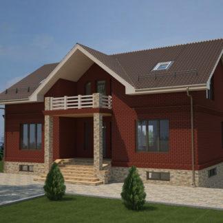 Проект большого дома №П-18 — 380 М2 (15,2 х 15,58)