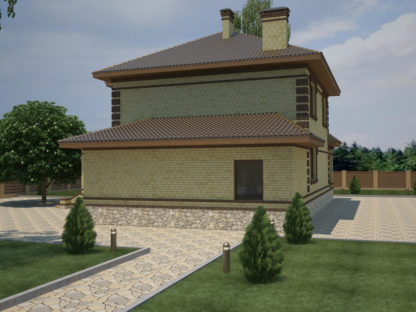 Проект двухэтажного дома №П-19 — 203,8 М2 (14,06 х 18,10)