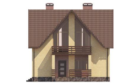 Проект двухэтажного дома №П-02 — 172,96 М2 (12,84 Х 10,24)