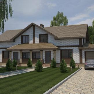 Проект двухэтажного коттеджа №П-24 — 329 М2 (23,91 х 12,82)