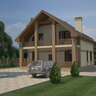 Проект двухэтажного дома №П-25 — 156,2 М2 (10,34 х 11,7)