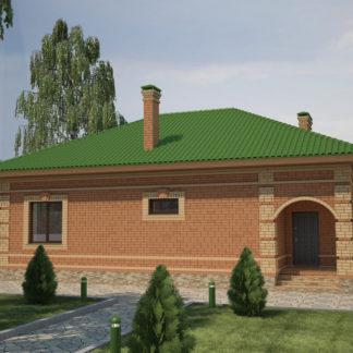 Проект одноэтажного дома №П-26 — 99,5 М2 (10,24 х 13,76)