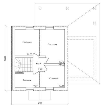 Проект загородного коттеджа №П-28 — 143,4 М2 (13,42 х 13,28)
