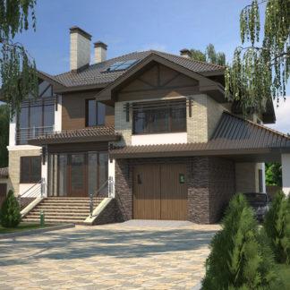 Проект особняка в трех уровнях №П-29 — 455,5 М2 (17,18 х 19,70)