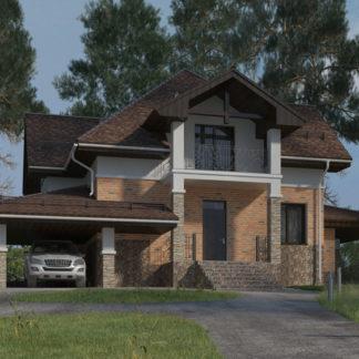 Проект двухэтажного дома №П-31 — 140 М2 (10,4 х 8,9)