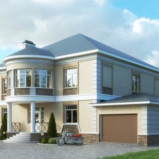 Проект двухэтажного дома №П-06 — 464,25 М2 (23 х 19,2)