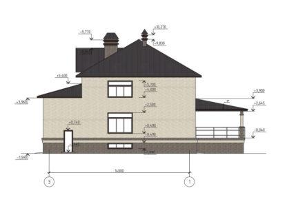 Проект большого дома №П-07 — 302,81 М2 (17,23 х 20)